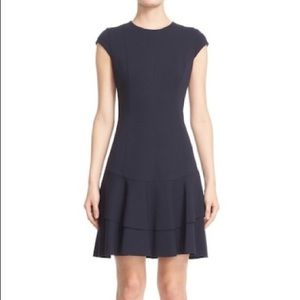 Akris Punto Cap Sleve Peplum Dress (Cranberry)